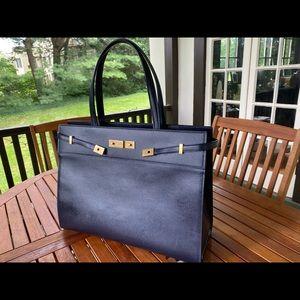 Saint Laurent Manhattan tote bag in navy blue